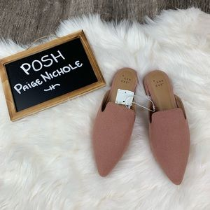 A New Day blush slip on mules
